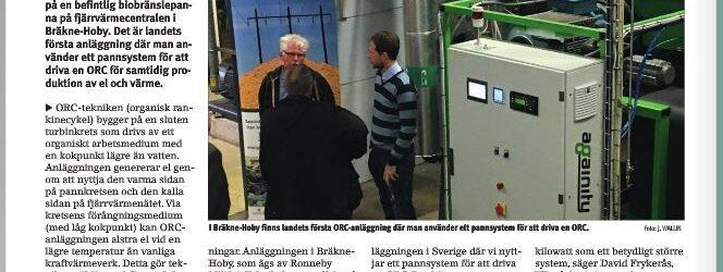 Againity highlighted in Fjärrvärmetidningen